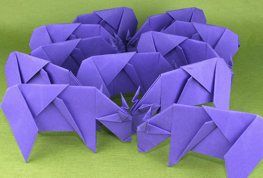 Cow A Bunga Origami